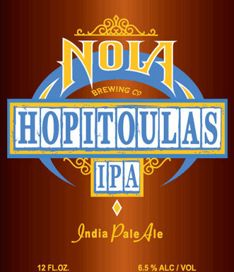 NOLA Hopitoulas IPA beer Label Full Size