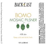 Back East BOMO Pilsner Beer