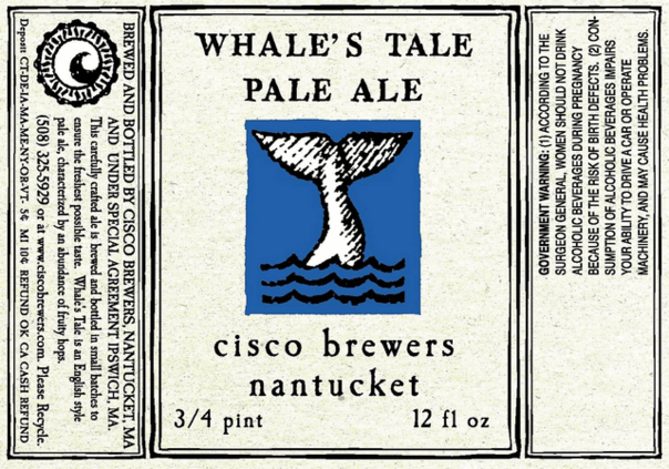 Cisco Whale's Tale beer Label Full Size
