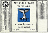 Cisco Whales Tale Pale Ale Beer