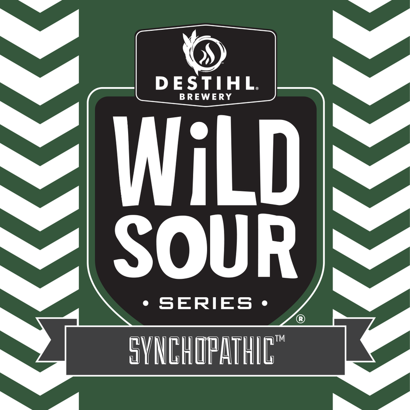 DESTIHL Wild Sour Series: Synchopathic beer Label Full Size