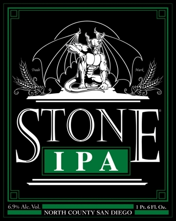 Stone IPA beer Label Full Size