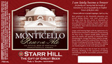 Starr Hill Monticello beer