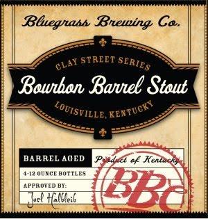 Bluegrass Bourbon Barrel Stout beer Label Full Size