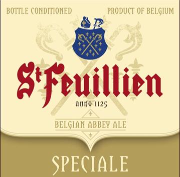 St. Feuillien Speciale Belgian Abbey Ale beer Label Full Size
