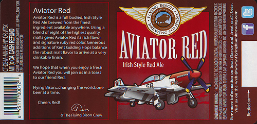 Flying Bison Aviator Red beer Label Full Size