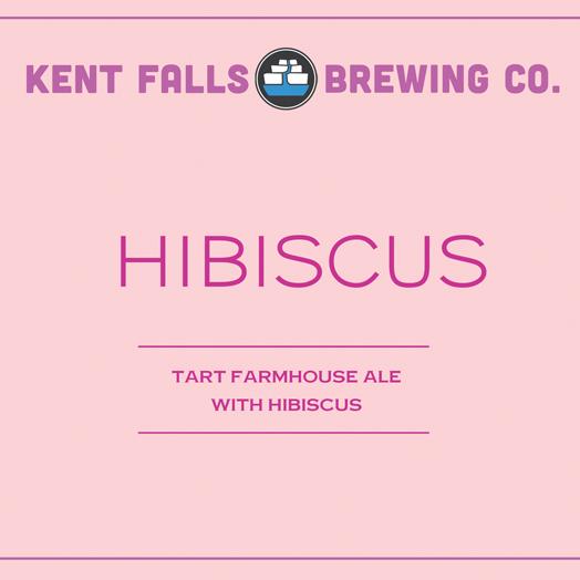 Kent Falls Hibiscus beer Label Full Size