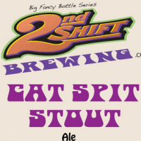 2nd Shift Cat Spit Stout beer Label Full Size