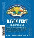 Green Flash Rayon Vert beer