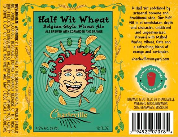 Charleville Half Wit Wheat beer Label Full Size