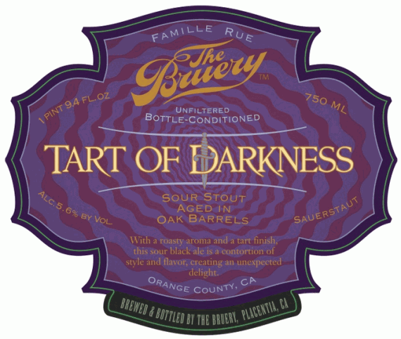 Bruery Tart of Darkness beer Label Full Size