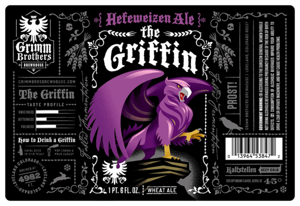 Grimm Brothers The Griffin beer Label Full Size