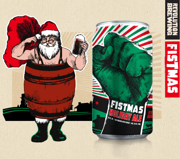 Revolution Fistmas Ale beer Label Full Size