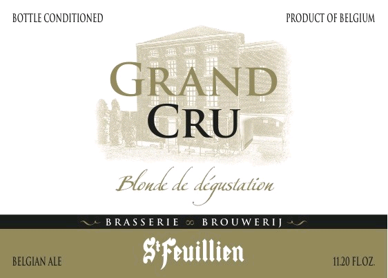 St. Feuillien Grand Cru beer Label Full Size