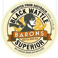 Baron's Wattle Seed Ale beer Label Full Size