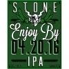 Stone Enjoy By 04.20.16 IPA Beer