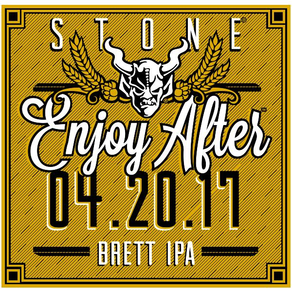 Stone Enjoy After 04.20.17 Brett IPA beer Label Full Size