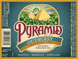 Pyramid Outburst Imperial IPA beer Label Full Size