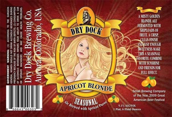 Dry Dock Apricot Blonde beer Label Full Size