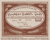 Boulevard Bourbon Barrel Quad beer