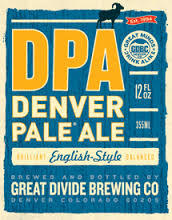 Great Divide Denver Pale Ale beer Label Full Size