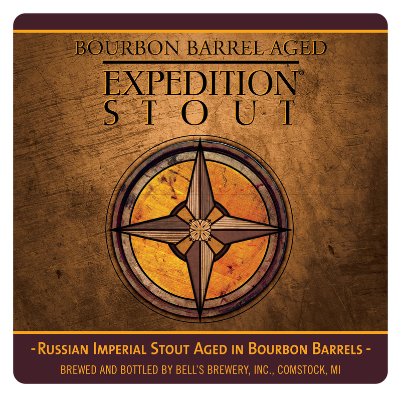 Bell's Bourbon Barrel Aged Expedition Stout beer Label Full Size