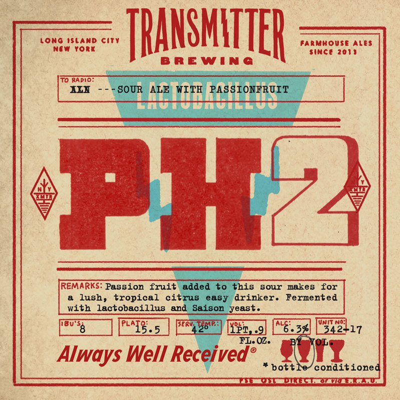 Transmitter PH2 Passionfruit Sour beer Label Full Size