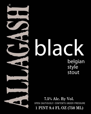 Allagash Black beer Label Full Size