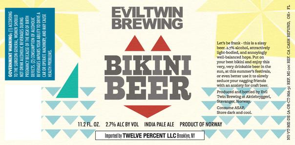 Evil Twin Bikini Beer beer Label Full Size
