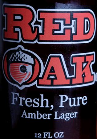 Red Oak Amber Lager beer Label Full Size