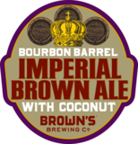 Brown's Bourbon Barrel Imperial Brown Ale with Coconut beer