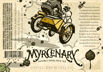 Odell Myrcenary beer Label Full Size