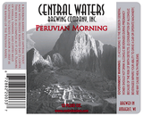 Central Waters Peruvian Morning beer