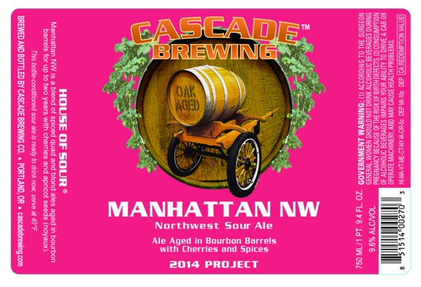 Cascade Manhattan NW 2014 beer Label Full Size