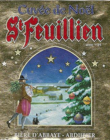 St. Feuillien Cuvee de Noel 2010 beer Label Full Size