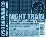 Oso Night Train Porter Bourbon Barrel beer