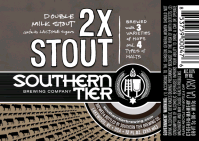 Southern Tier 2X Double Milk Stout beer Label Full Size