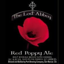 The Lost Abbey Red Poppy Oude Bruin beer Label Full Size