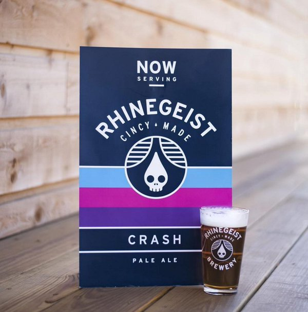 Rhinegeist Crash beer Label Full Size