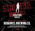 10 Barrel S1nist0r Black Ale beer Label Full Size