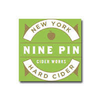 Nine Pin Cider Blueberry Peach Cobbler beer Label Full Size