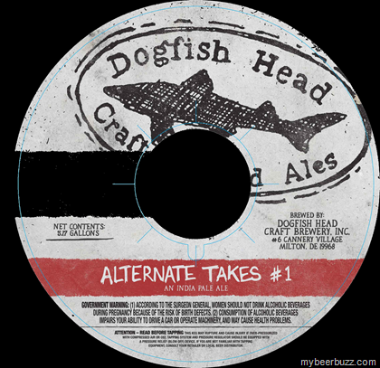 Dogfish Head Alternate Takes #1 beer Label Full Size