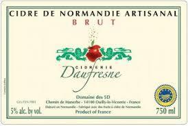 Cidrerie Daufresne Brut beer Label Full Size