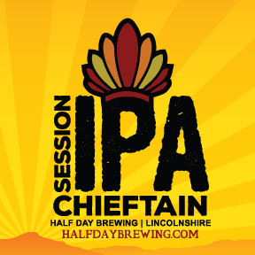 Half Day Chieftain Session IPA beer Label Full Size