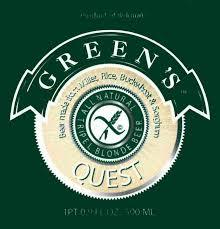 Green's Quest Triple Blonde beer Label Full Size