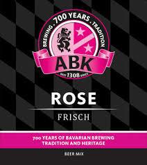 ABK Rose Frisch beer Label Full Size