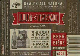 Beau's Lug Tread Lagered Ale beer Label Full Size