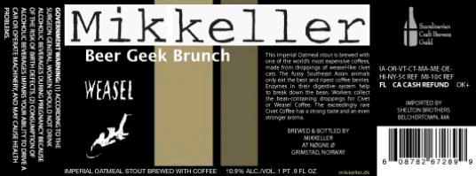 Mikkeller Beer Geek Brunch Weasel Beer