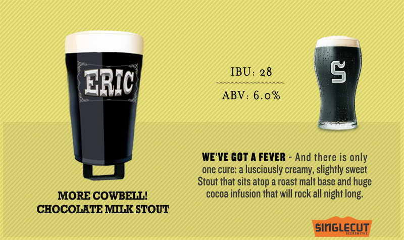 SingleCut Eric More Cowbell! Nitro beer Label Full Size