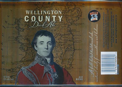 Wellington County Dark beer Label Full Size